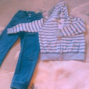 3/20$ H&M pants Old Navy sweater 5-6 years old